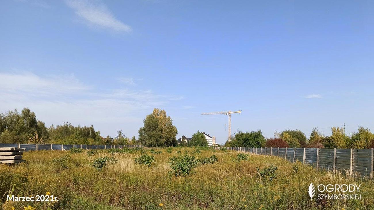 Marzec 2021r. - zdjęcia z budowy Ogrodów Szymborskiej