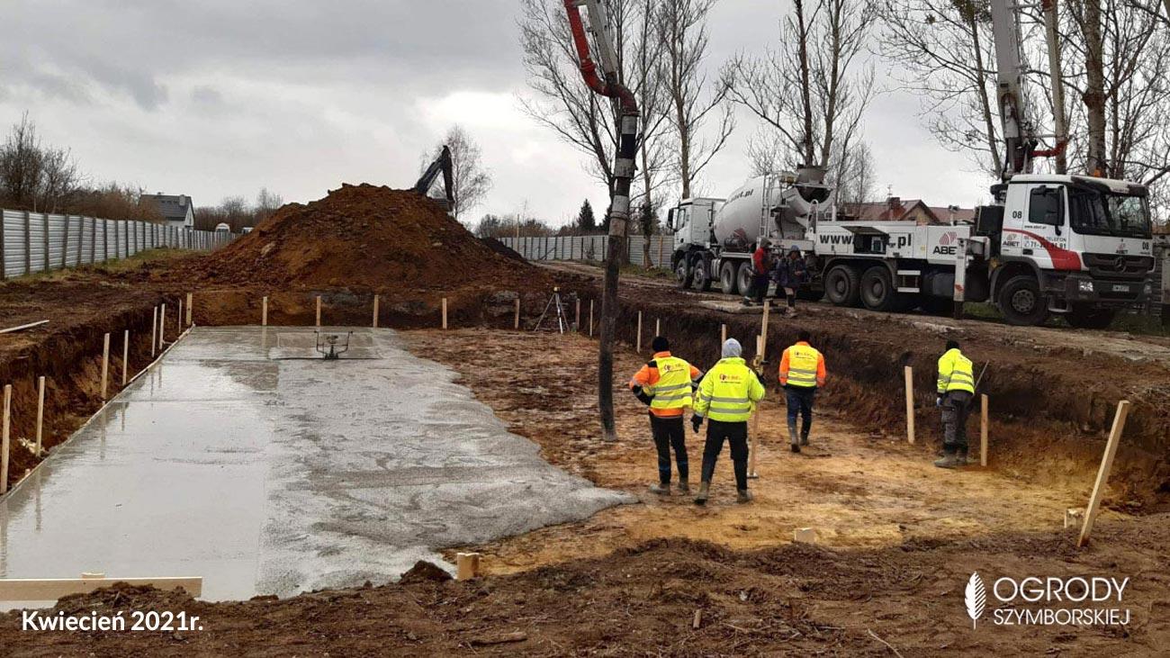 Kwiecień 2021r. - zdjęcia z budowy Ogrodów Szymborskiej
