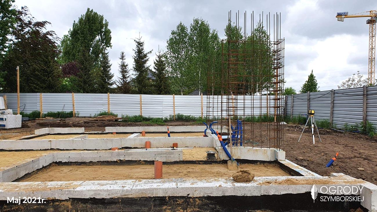 Maj 2021r. - zdjęcia z budowy Ogrodów Szymborskiej